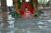 Keira Going Down the Water Slide